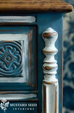 Bekijk de foto van MMSMilkPaint met als titel Miss Mustard Seed's Milk Paint: kleur Flow Blue en andere inspirerende plaatjes op Welke.nl.