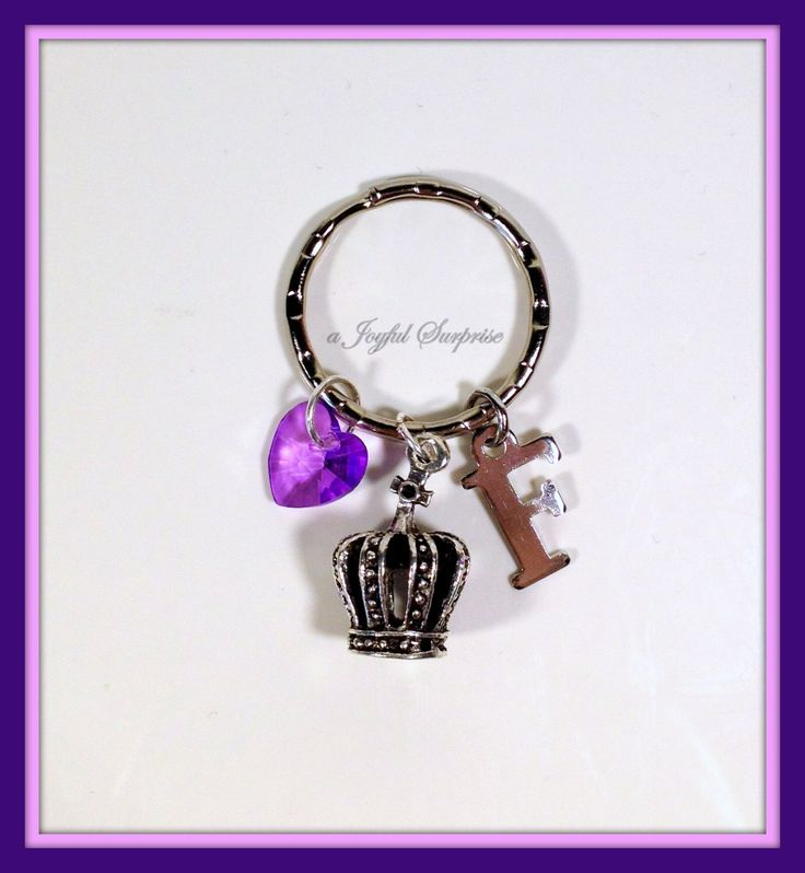 A personal favorite from my Etsy shop https://www.etsy.com/ca/listing/260685190/sale-crown-keychain-personalized-crown