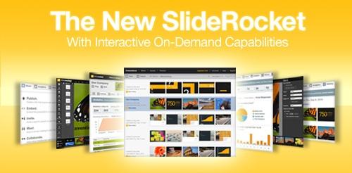 Sliderocket - Blitse presentaties vanuit uw browser? Met SlideRocket kunt u de dia's niet alleen bekijken; u maakt er ook geanimeerde (flash) voorstellingen met 3D-overgangen mee. De gratis versie van SlideRocket laat u tot 250 MB online opslaan. Er zijn ook betaalde versies.