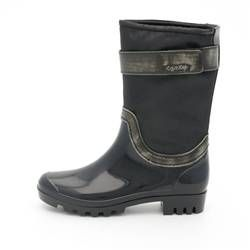 Calvin Klein Black Grey Womens Rainy Boot Calvin Klein Siyah Gri Kadın Bot