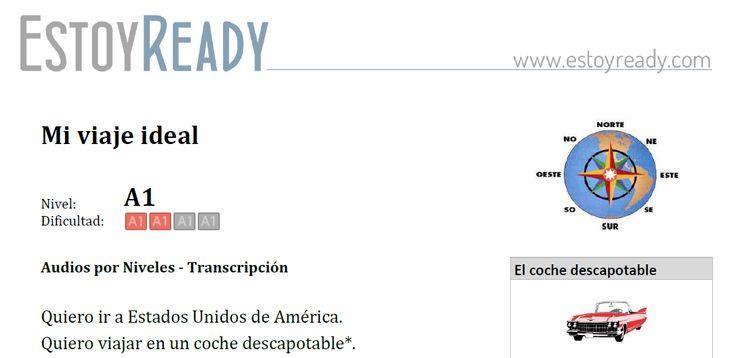 """Audio (+ transcripción) de nivel inicial para practicar español. Verbo """"querer"""" para expresar intenciones. Resumen: una mujer habla de su viaje a EEUU."""