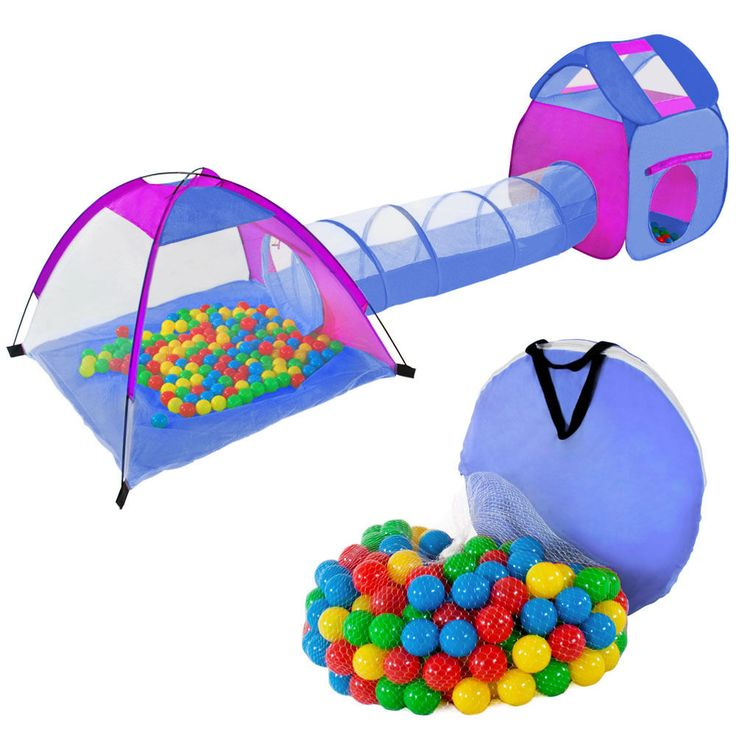 Igloo childrens kids play tent and tunnel + 200 balls + bag pit playhouse garden