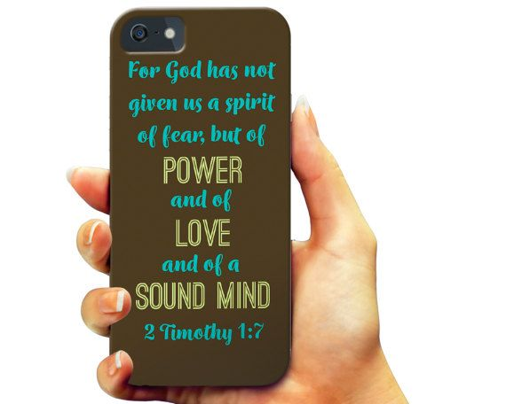2 Timothy 1:7 Christian (Brown) iPhone 7 case, iPhone 6 6s Plus case, iPhone 6 6s case,  Samsung Galaxy s7 case, Samsung s6 case