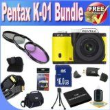 For Sale Pentax K-01 16MP APS-C CMOS Compact Method Digicam With eighteen-55mm and 55-200mm Lens (Yellow) + Extended Lifestyle Battery + 16GB SDHC Course ten Memory Card + USB Card Reader + Memory Card Wallet + Deluxe Case w/Strap + Shock Evidence Deluxe Circumstance + Mini HDMI to HDMI Cable + three Piece Specialist Filter Kit + Accessory Saver Bundle! Inexpensive - http://buyingmanual.com/for-sale-pentax-k-01-16mp-aps-c-cmos-compact-method-digicam-with-eighteen-55mm-and-55-