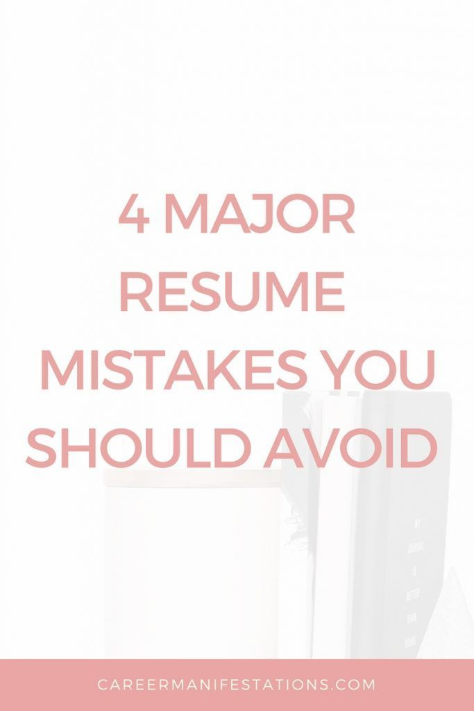 4 Major Resume Mistakes You Should Avoid Tips for Finding Your - resume mistakes