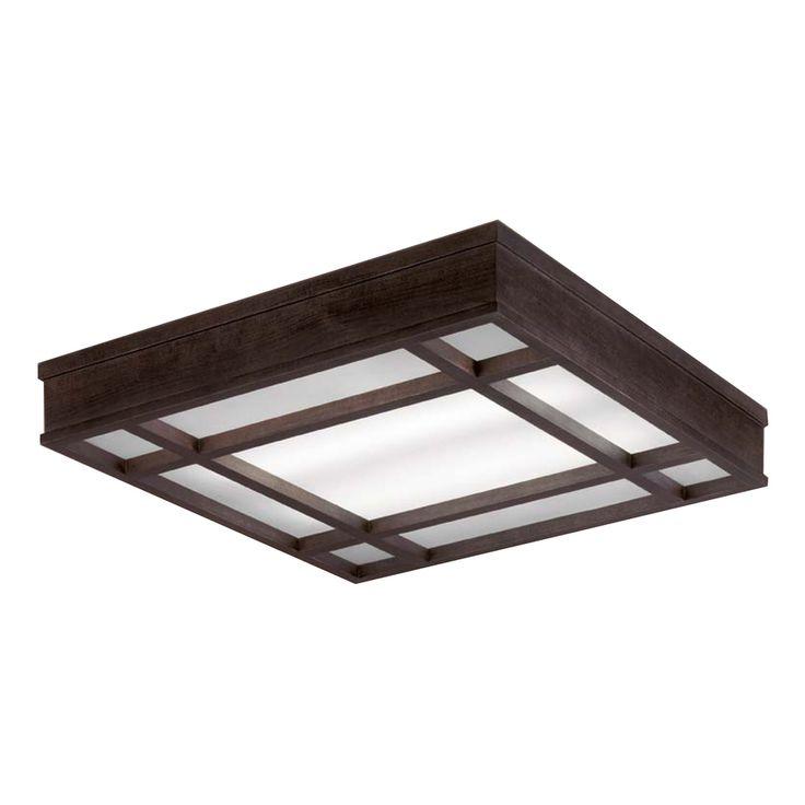 Fluorescent Shop Light Fixtures Lowes: Shop Portfolio 28-in Brown Ceiling Fluorescent Light