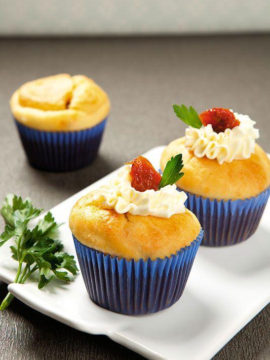 cupcake de tomate seco e cream cheese
