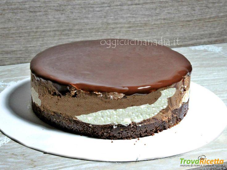 Cheesecake alla nutella bicolore – ricetta senza cottura  #ricette #food #recipes