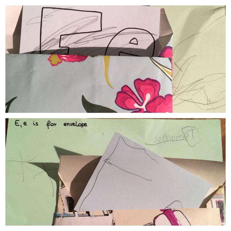 E Is For Envelope Children Have Been Writing The Letter And Place It Inside Bodhi Treeletter Etreesnurseryalphabetchildrenenvelopeswritingkids