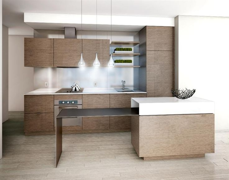 Love this kitchen! ultra modern condo kitchen. Would love the cabinets to go to the ceiling and add shorter glass under uppers.