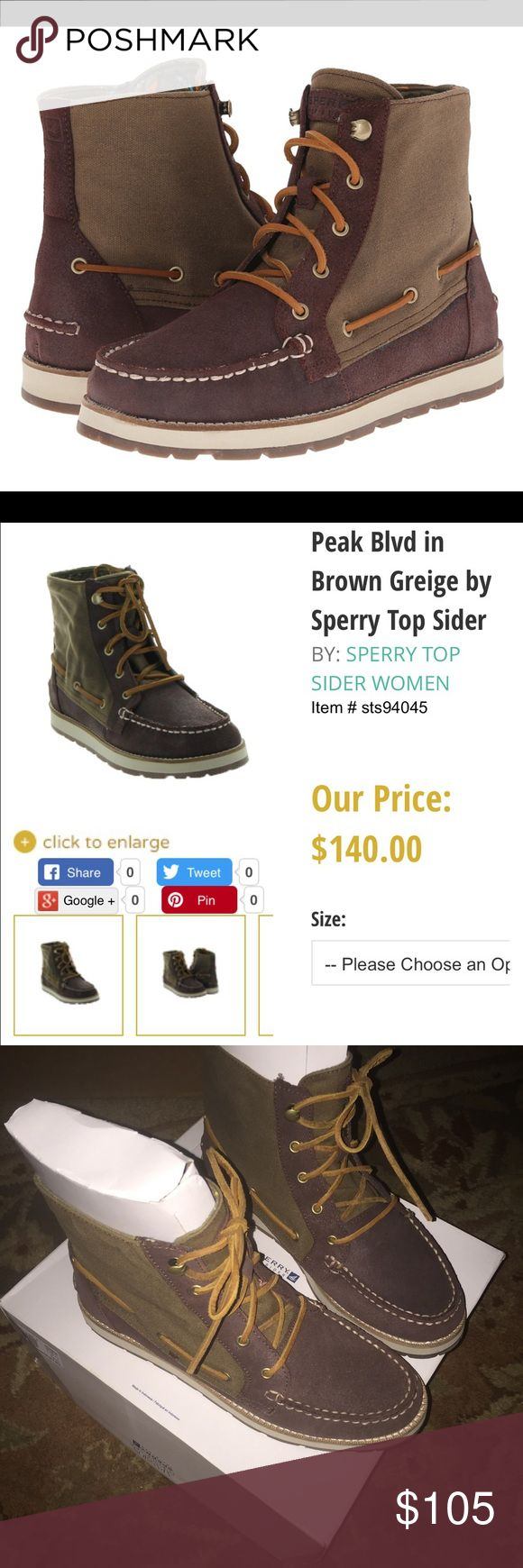 Like New Sperry Boots ✨PLEASE READ sizing details✨These are practically BRAND NEW! Only worn once. I paid $159.00, and now even on sale they are $140...... and very hard to find! The price isn't negotiable, because again these are in NEW condition. I am a size: 10 in every shoe. These are a size 9.5, but they run big, so they fit a size: 10 good, with a little extra room. PRICE FIRM Sperry Top-Sider Shoes Ankle Boots & Booties