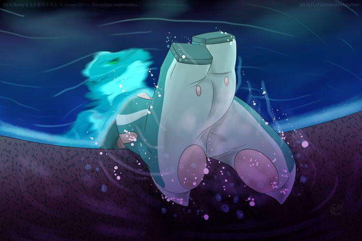 Underwater   S.E.R.V.E.R.S., Yun González - Groov3! Arts on ArtStation at https://www.artstation.com/artwork/3V9gA
