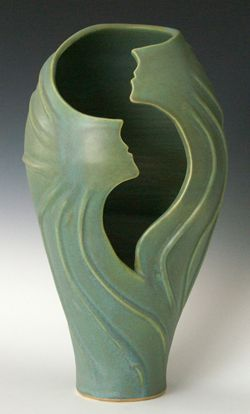 """Swirling Sprites"" ©2013 Judith Lerner Taylor: ""I strive to infuse movement into all my ceramic pieces, so that my pottery instills in others the sense of joy, exhilaration, and lightness of dancing."""