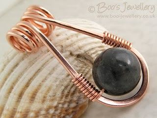Copper and bead pendant