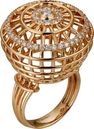 $16400 Cartier Paris Nouvelle Vague ring Pink gold, diamonds