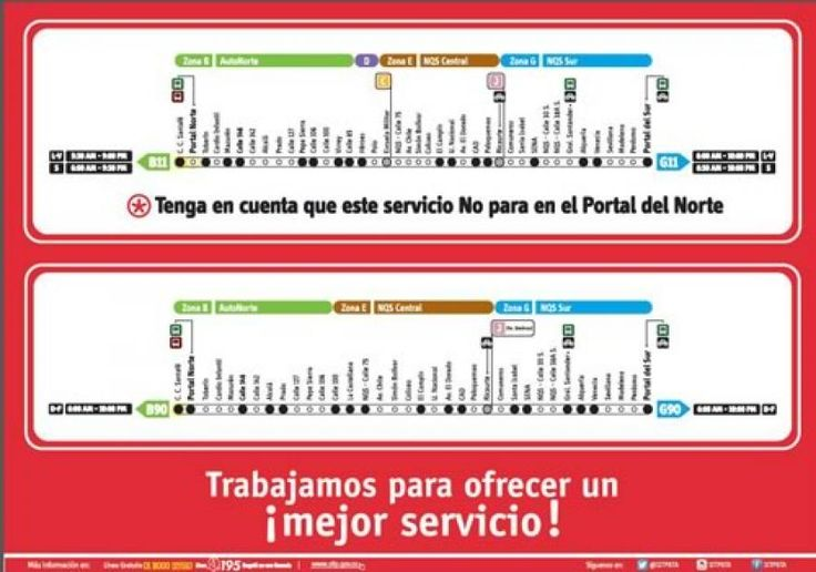 TransMilenio informa cambios en servicios del Portal Norte   Portal Bogota…