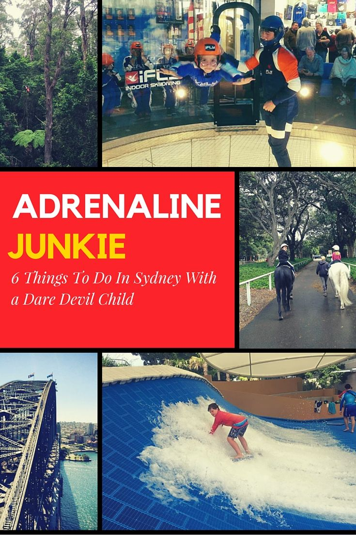 Living in Sydney provides access to a plethora of attractions that your dare devil child will love. This is our top 6