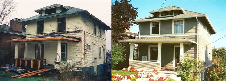 Houses: Before And After {inspiration