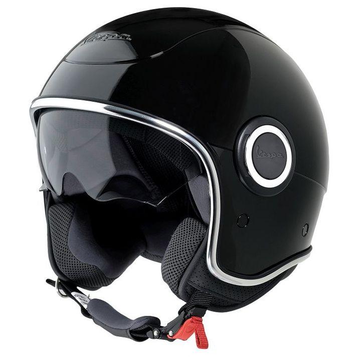 Black Vespa VJ1 Helmet   Scooter Crazy Ltd