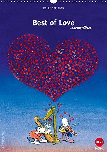 "Mordillo: Best of love Wandkalender 2015 DIN A3 hoch : Der neue ""Best of Love""-Kalender von Mordillo ist da! Monatskalender, 14 Seiten: Amazon.es: Libros"