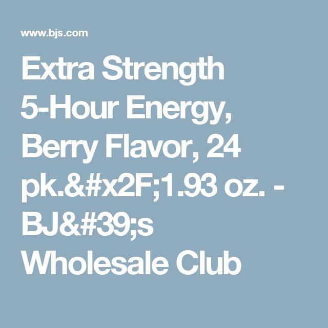Extra Strength 5-Hour Energy, Berry Flavor, 24 pk./1.93 oz. - BJ's Wholesale Club
