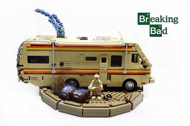 Walter White's RV in LEGO!: Bad Lego, Lego Sets, Stuff, Awesome, Breakingbad, Lego Breaking, Bad Rv, Photo, Breaking Bad