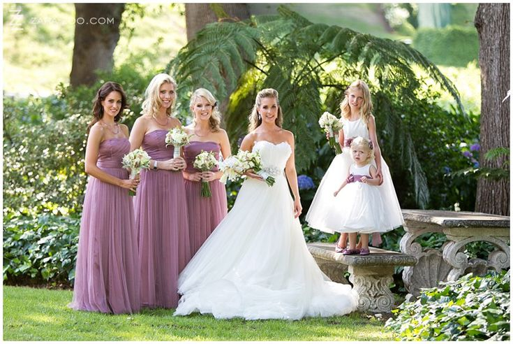 Long Light Purple / Pink bridesmaid dresses for this summer fairytale #wedding at #Molenvliet Wine Estate near Stellenbosch, South Africa.  See more of this wedding on the ZaraZoo Photography blog http://www.zara-zoo.com/blog/molenvliet-wedding-photos-stellenbosch