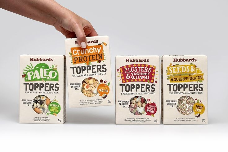 Hubbards Toppers on Packaging of the World - Creative Package Design Gallery