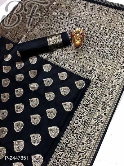 Banarasi Cotton Silk Jacquard Ethnic Saree 4