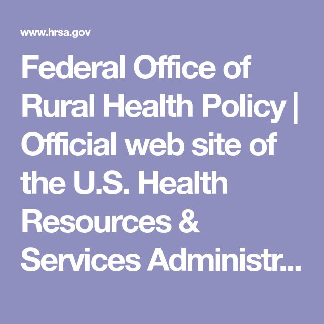 Federal Office of Rural Health Policy | Official web site of the U.S. Health Resources & Services Administration