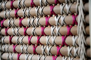 Kohai Grace Kura Gallery Maori Art Design New Zealand Weaving Tukutuku Panel Patikitiki kiekie rimu  2w