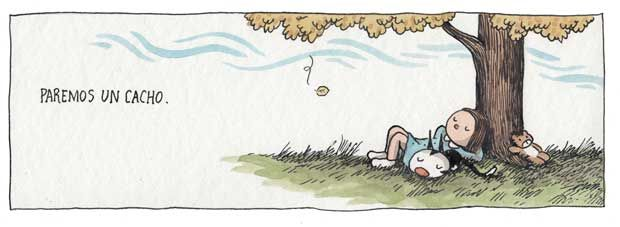 Enriqueta y Fellini. Liniers