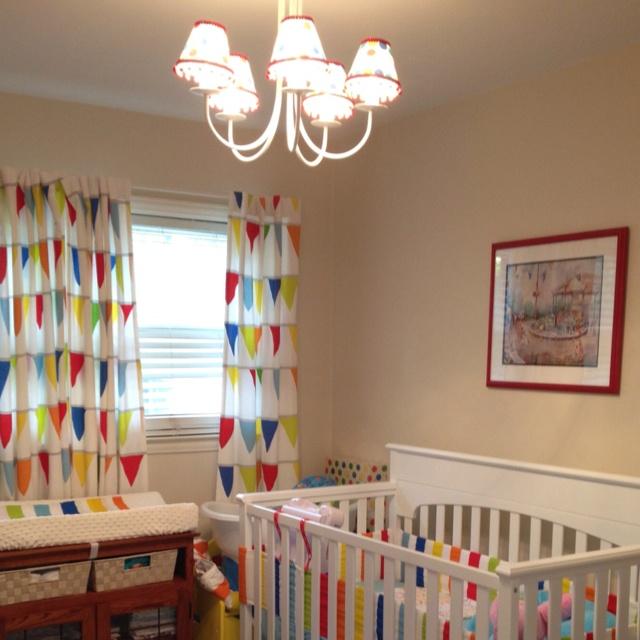 Nursery Calendar Ideas : Primary color nursery decor shapeyourminds