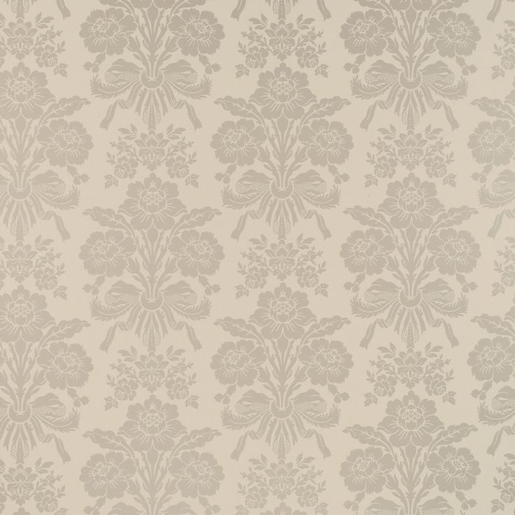 Tatton Truffle Damask Wallpaper