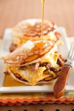 Sausage Pancake Egg Sandwich