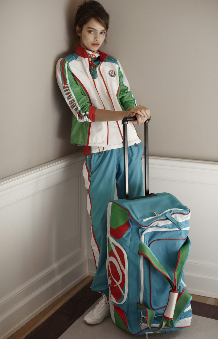 Azerbaijan Olympic uniform, design by Ermanno Scervino