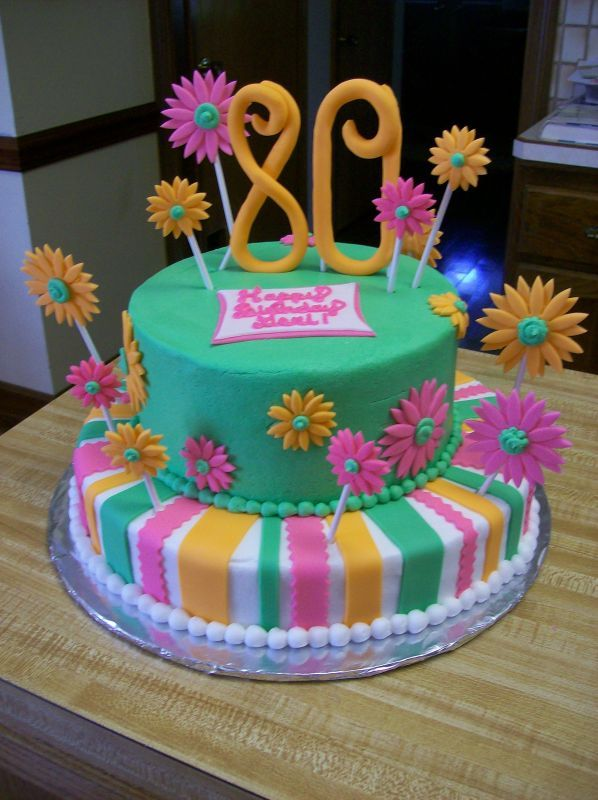 80th Birthday Cake Get Domain Pictures Getdomainvidscom