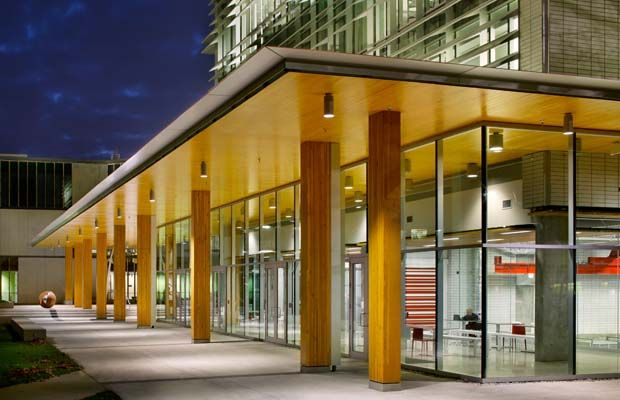 Jana Foit, Perkins+Will, won in the Institutional Wood Design: Large category for Earth Sciences Building at UBC.