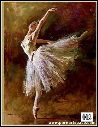 Free shipping! Famous Andrew oil painting ballerina reproductions 100% handpainted canvas art on sale