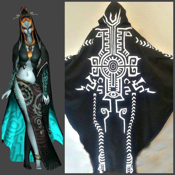 Midna mantel, Midna kostuum, legende van zelda, Link, universe loz video game spel,, Midna menselijke vorm kostuum, Princess Zelda vriend
