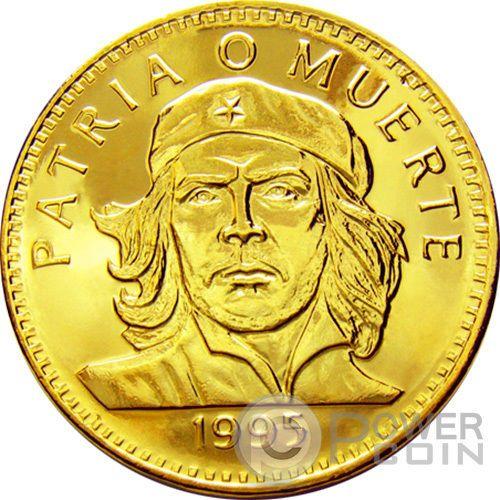 CHE GUEVARA GOLD Coin 3 Pesos Patria Muerte Fidel Castro