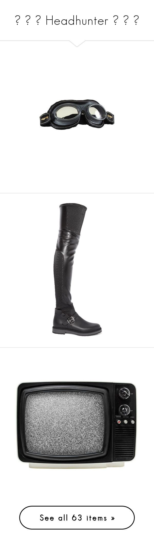 """""""⛓ ☢ ⚠ Headhunter ⚠ ☢ ⛓"""" by void-witch ❤ liked on Polyvore featuring halloween, harry potter, shoes, boots, fendi, thigh boots, stretch leather boots, over the knee boots, thigh high boots and over the knee slouch boots"""