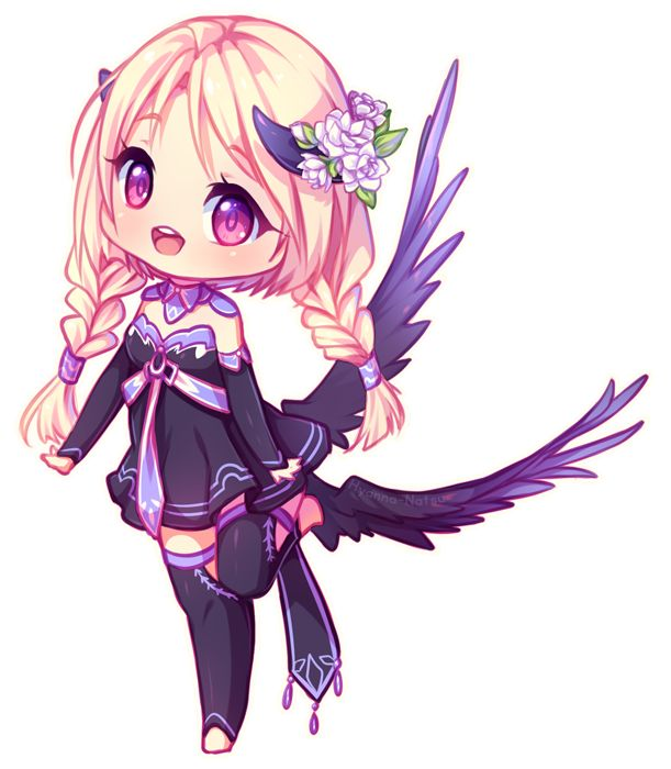 Sketch chibi commission for hanekko ~ yay yay I did some colors options as requested, this one was her favorite! Enjoyed drawing her design and coloring, had too much fun! *---* Thank you very much...