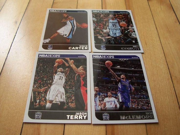 MIKE CONLEY VINCE CARTER BEN MCLEMORE JASON TERRY 2014-15 NBA Hoops (4) Card Lot