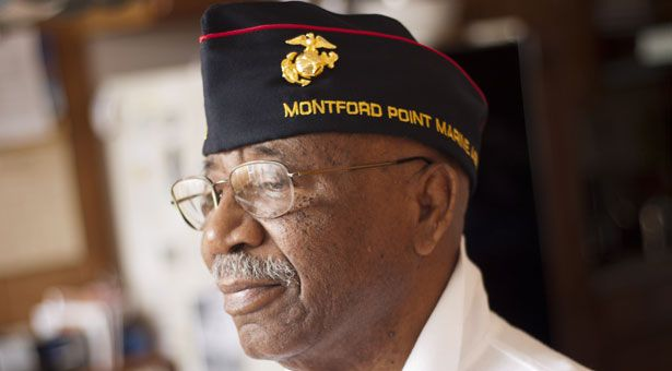 Joseph Smith was one of 20,000 African Americans who joined the Marine Corps during World War II. He was shipped off to a separate boot camp for blacks and served in a segregated support unit commanded by white officers.