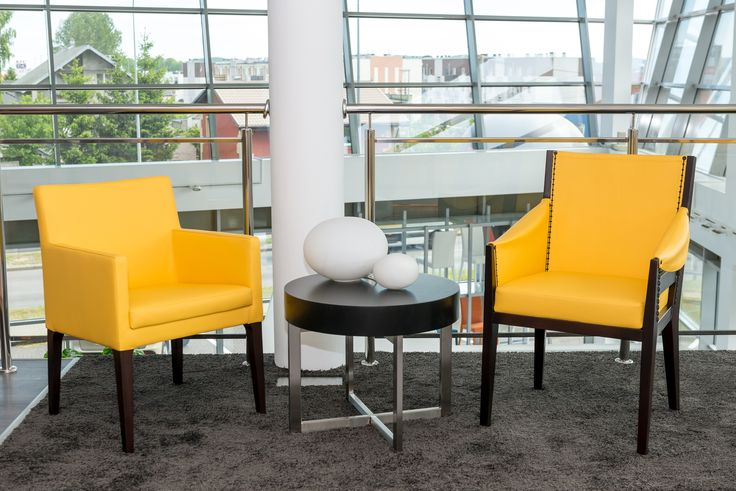 """""""Yellow is my new obsession"""" - modern armchairs and chairs from Klose Furniture showroom in Rumia. More on www.klose.pl #KloseFurniture #modernarmchairs #moderninterior"""