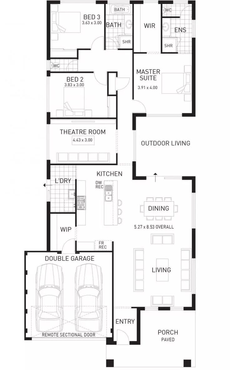 Cottesloe Beach, Single Storey Home Design Foundation Floor Plan, WA Part 93