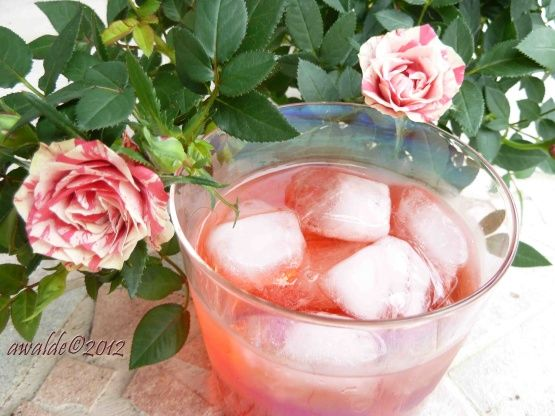 Lebanese Rose Drink Sharab Ward) Recipe - A delicious pink drink that is probably enjoyed in Lebanon, Syria, Jordan, and Palestine, especially during Ramadan a s a way to refresh yourself once breaking the fast.