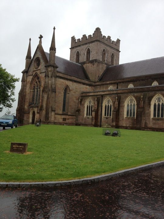 St Patrick's CoI Cathedral Armagh where Patrick founded his church in Ireland and where the last high king of Ireland, Brian Boru, is buried.