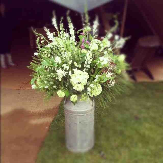 Milk churn floral arrangement
